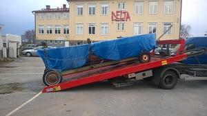 Bärgning båtvagn