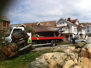 Bärgning av båt